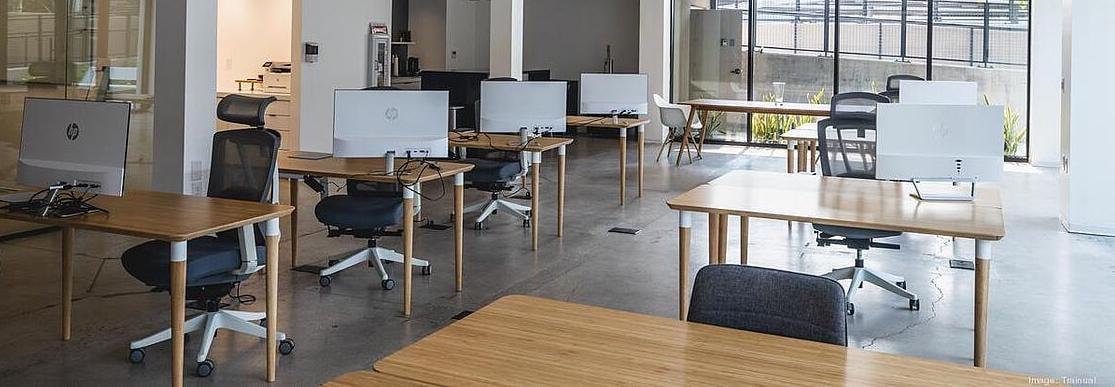 Trainual's new hybrid office set-up!